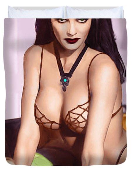 Munster Family Lily Munster Fantasy Nude  Duvet Cover