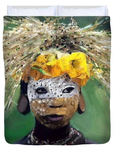 Muris Tribe Africa Duvet Cover by Vannetta Ferguson