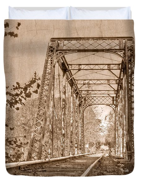 Murphy Trestle Duvet Cover by Debra and Dave Vanderlaan
