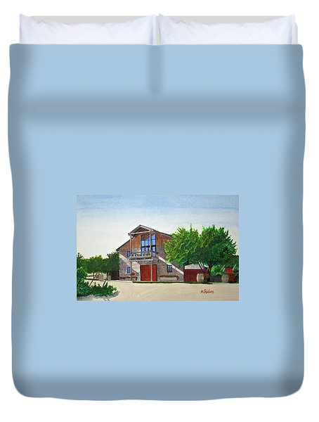 Murrietas Well Winery Duvet Cover by Mike Robles