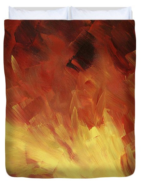Muse In The Fire 2 Duvet Cover by Sharon Cummings