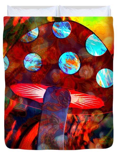 Mushroom Delight Duvet Cover