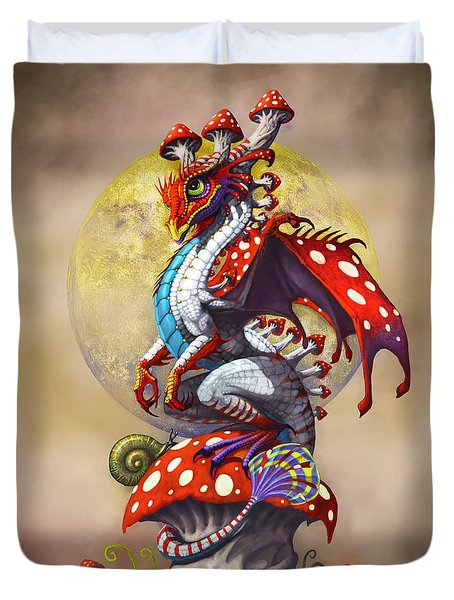 Mushroom Dragon Duvet Cover by Stanley Morrison