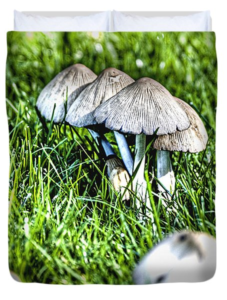 Mushroom In September Hdr Duvet Cover