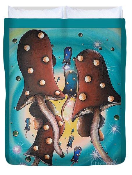 Mushroom Migration Duvet Cover