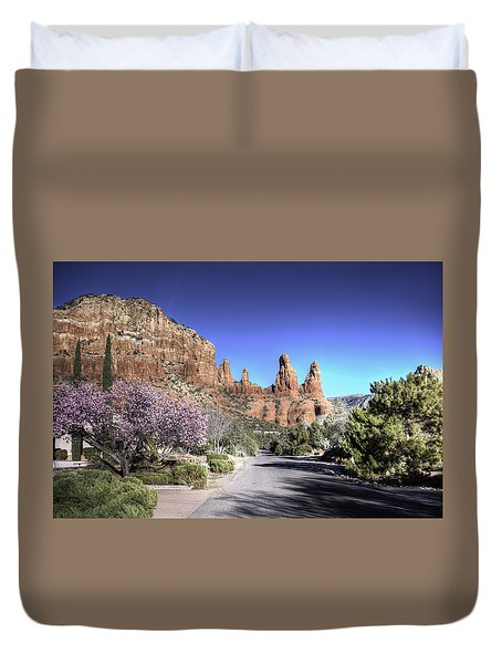 Duvet Cover featuring the photograph Mushroom Rock by Lynn Geoffroy