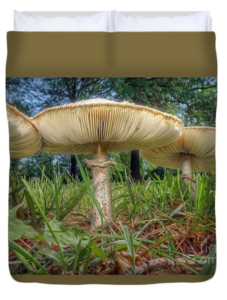 Mushroom Trio Duvet Cover