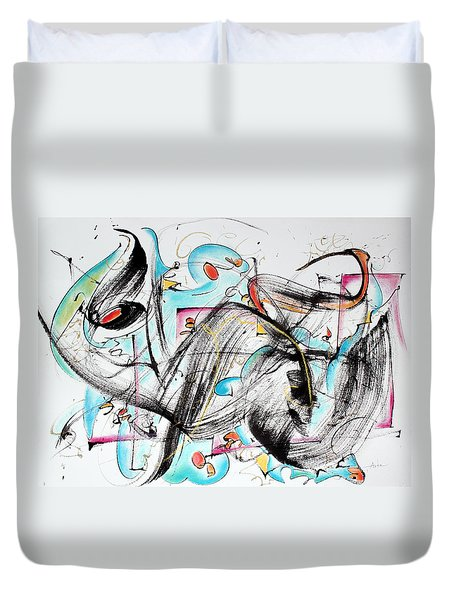 Music Duvet Cover by Asha Carolyn Young