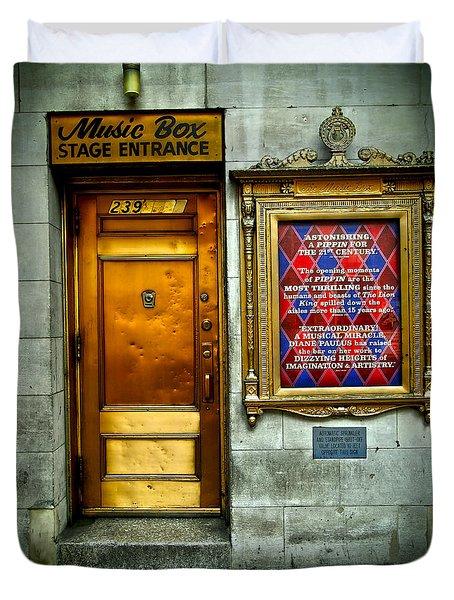 Music Box Stage Entrance Duvet Cover