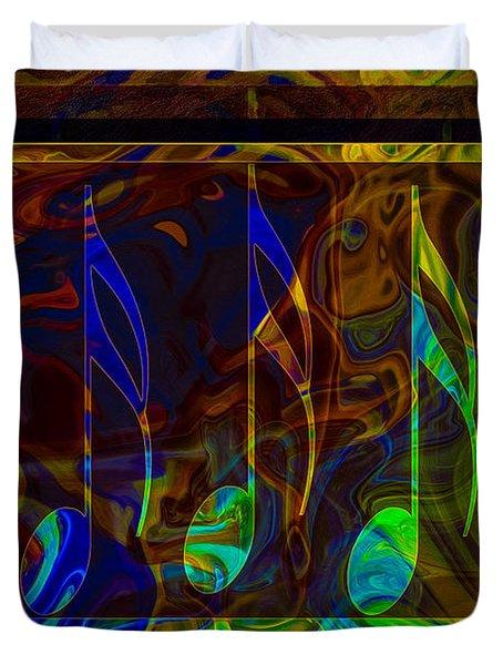 Music Is Magical Abstract Healing Art Duvet Cover