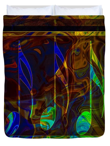 Music Is Magical Abstract Healing Art Duvet Cover