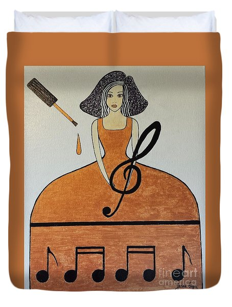 Music Lover Duvet Cover
