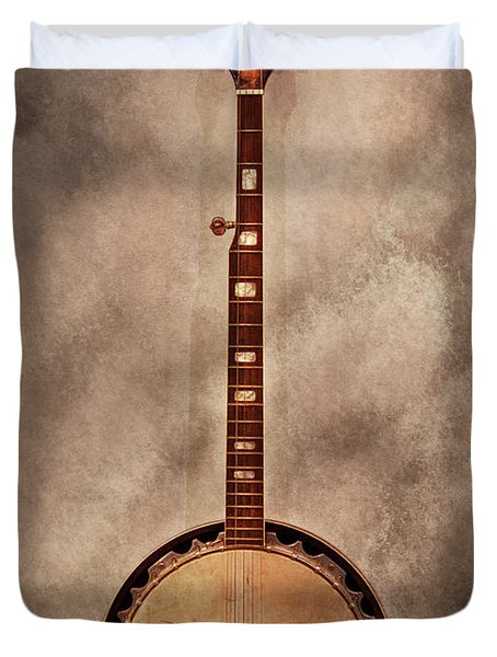 Music - String - Banjo  Duvet Cover by Mike Savad