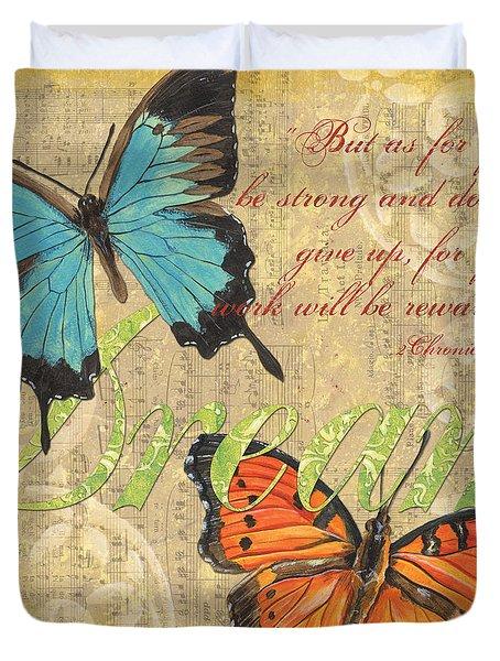 Musical Butterflies 1 Duvet Cover