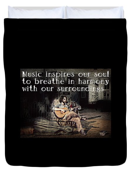 Musical Inspiration Duvet Cover by Melanie Lankford Photography