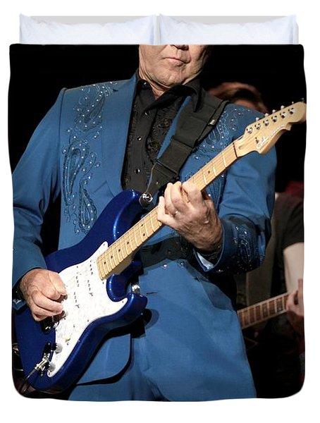 Musician Glen Campbell Duvet Cover
