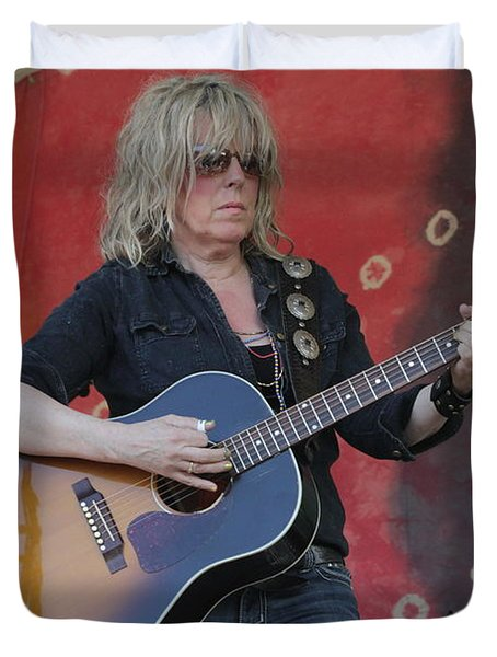 Musician Lucinda Williams Duvet Cover