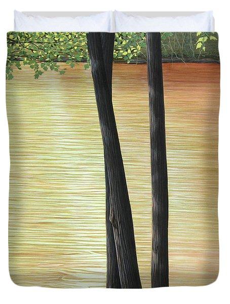 Muskoka Lagoon Duvet Cover by Kenneth M  Kirsch