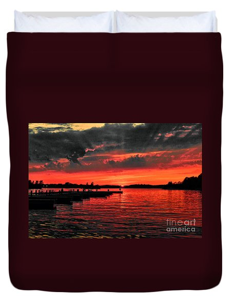 Muskoka Sunset Duvet Cover