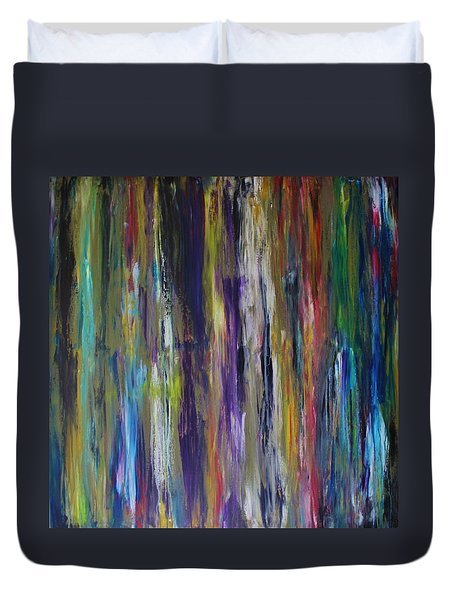 Must First Survive Thyself Duvet Cover by Michael Cross