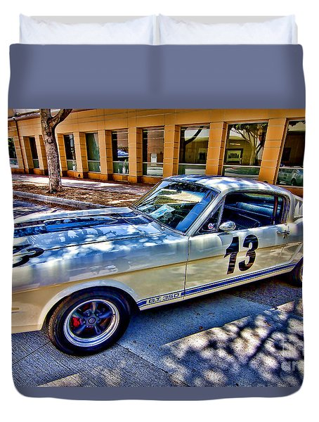 Mustang Gt 350 Duvet Cover by Jason Abando