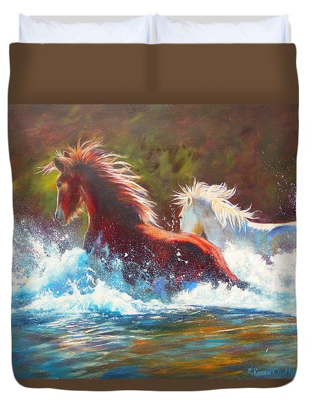 Mustang Splash Duvet Cover