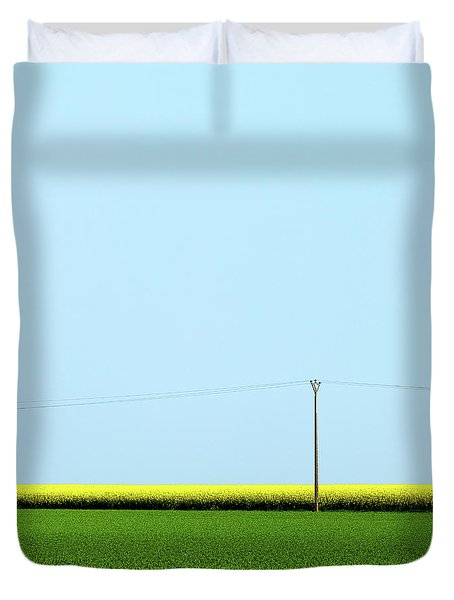 Mustard Sandwich Duvet Cover by Dave Bowman