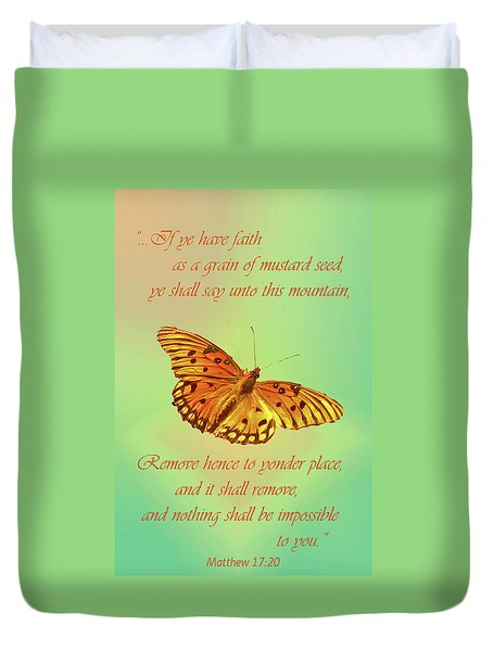 Duvet Cover featuring the photograph Mustard Seed Faith by Larry Bishop