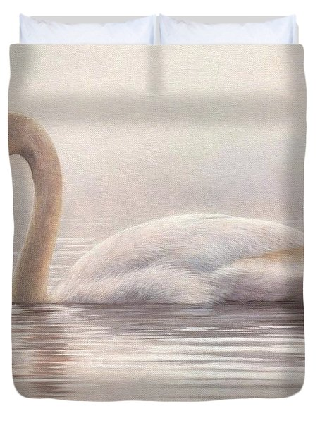 Mute Swan Painting Duvet Cover