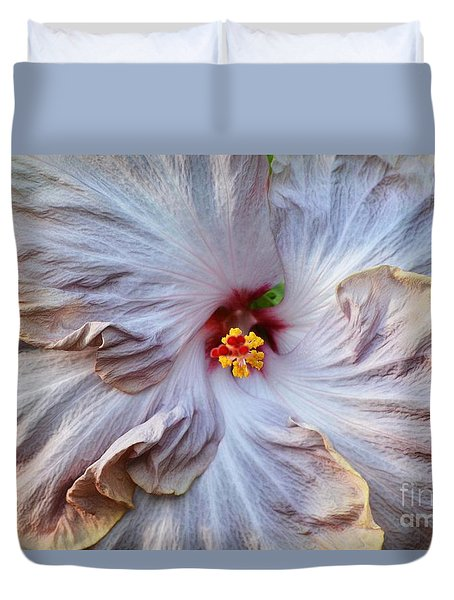 Muted Hibiscus Duvet Cover by Cindy Manero
