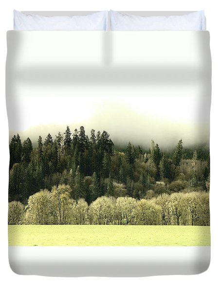 Duvet Cover featuring the photograph Muted Hillside Colors by Katie Wing Vigil