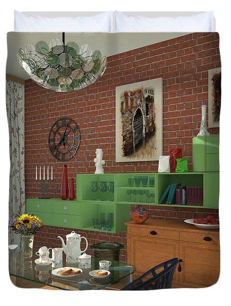 My Art In The Interior Decoration - Elena Yakubovich Duvet Cover by Elena Yakubovich