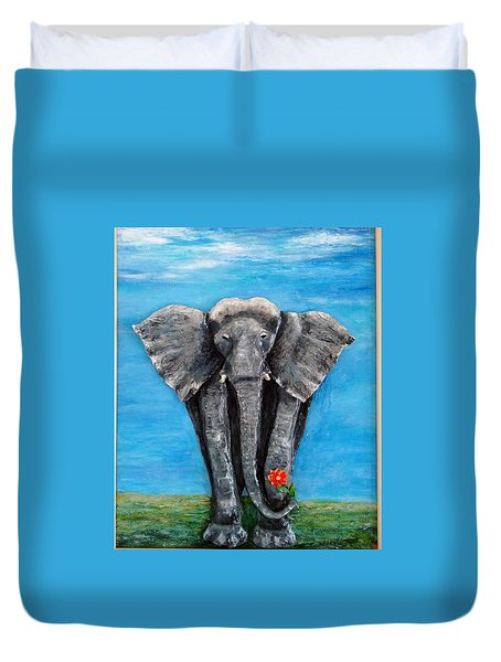 My Big Friend Duvet Cover