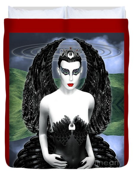 My Black Swan Duvet Cover by Keith Dillon