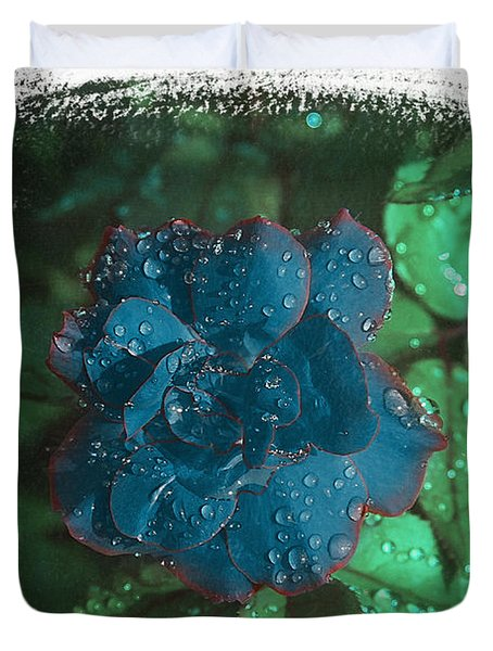 My Blue Rose Duvet Cover