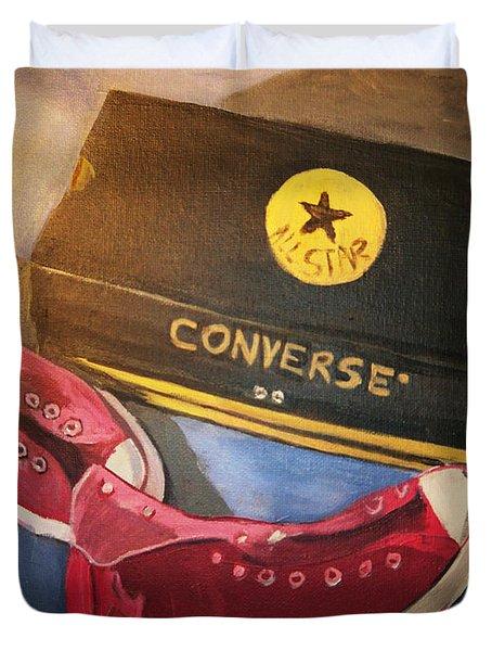 My Chucks - Pink Converse Chuck Taylor All Star - Still Life Painting - Ai P. Nilson Duvet Cover