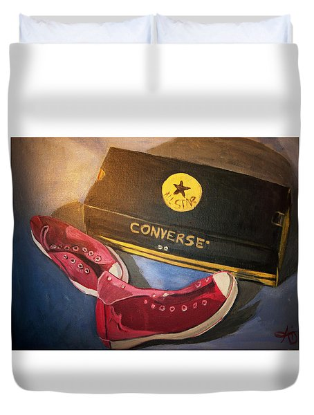 My Chucks - Pink Converse Chuck Taylor All Star - Still Life Painting - Ai P. Nilson Duvet Cover