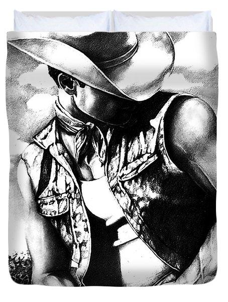 My Cowboy Man Duvet Cover