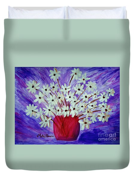 My Daisies Blue Version Duvet Cover