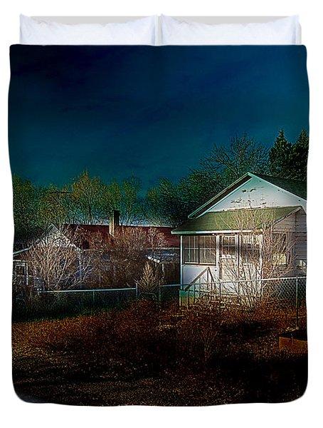 Duvet Cover featuring the photograph My Dream House by Gunter Nezhoda