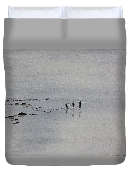 My Dreamtime 1 Duvet Cover by Tim Mullaney