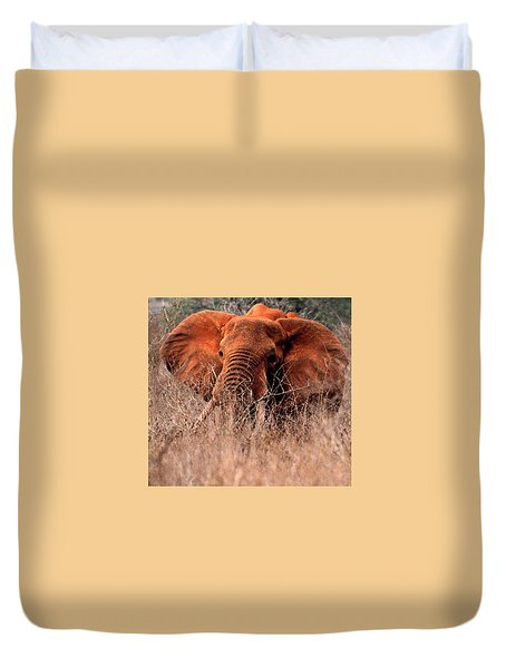 My Elephant In Africa Duvet Cover