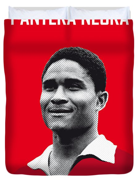 My Eusebio Soccer Legend Poster Duvet Cover by Chungkong Art