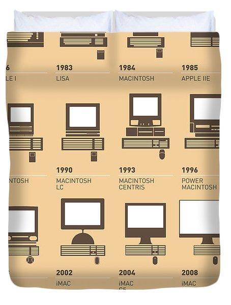 My Evolution Apple Mac Minimal Poster Duvet Cover
