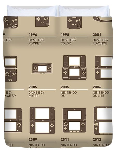 My Evolution Nintendo Game Boy Minimal Poster Duvet Cover by Chungkong Art