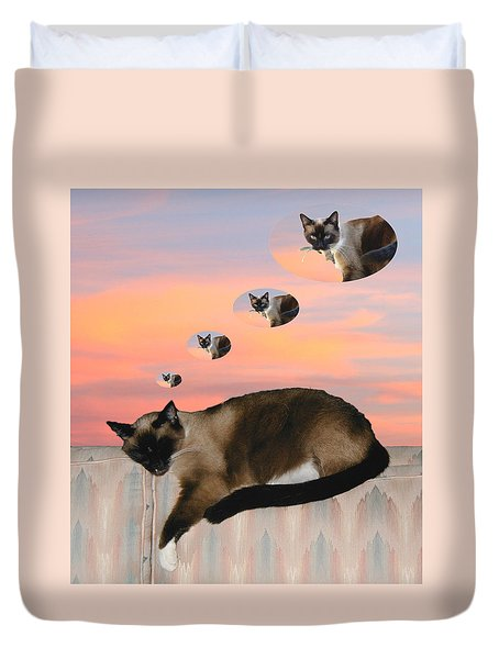 My Favorite Dream - Mouse Hunt Duvet Cover