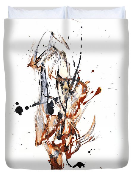 Duvet Cover featuring the painting My Form Of Jazz Series - 10188.110709 by Kris Haas