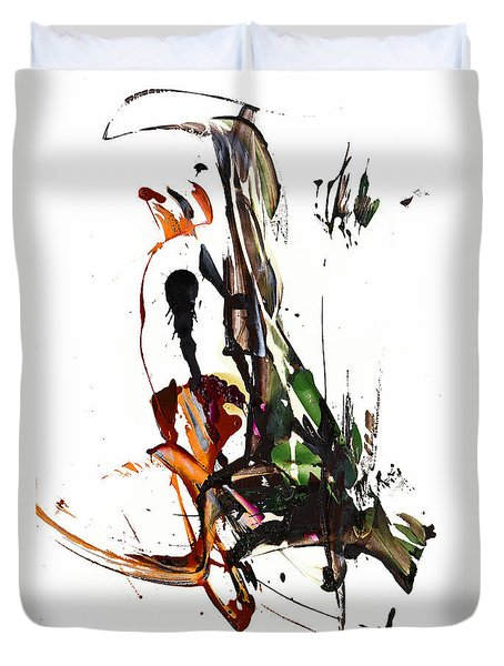 Duvet Cover featuring the painting My Form Of Jazz Series - 10185.110709 by Kris Haas