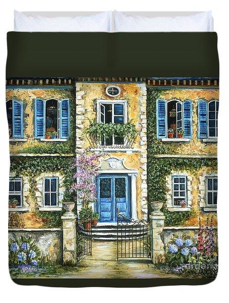 My French Villa Duvet Cover by Marilyn Dunlap
