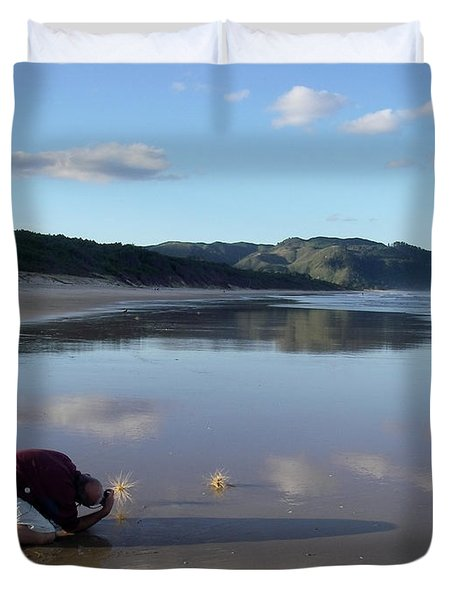 My Friend Photographer Duvet Cover by Jola Martysz